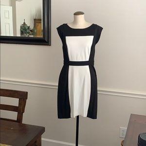 Ann Taylor Loft Black & White Dress